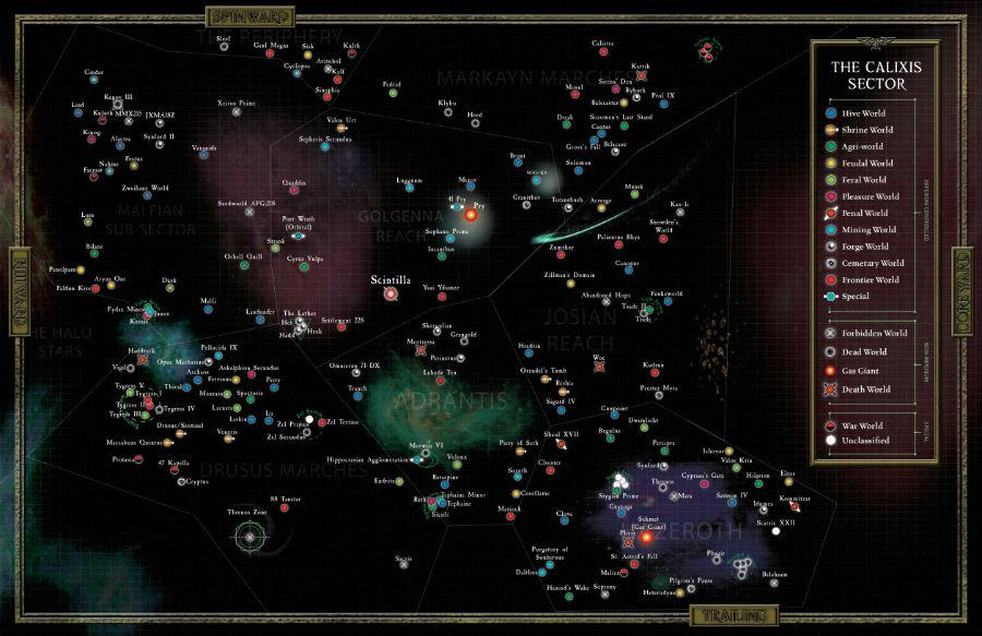 Warhammer Calixis Map